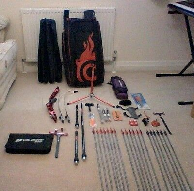 SF Forged PLUS RECURVE RISER RIGHT HAND And Many Accessories