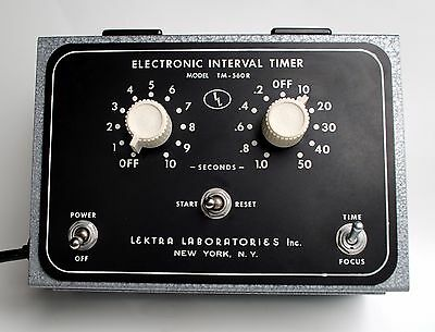 Lektra Labs TM-560R Electronic Interval Timer Model - Tested and Works Fine