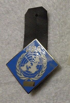 United Nations,pocket Badge, Joint Security Area Staff, Jsa, 1970's
