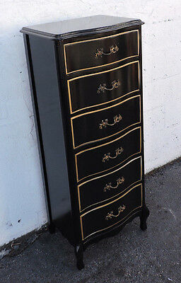 Tall French Black Painted Lingerie Chest 8182