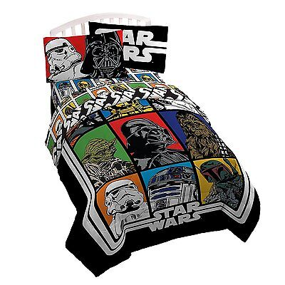 Disney Star Wars Classic Twin Full Size Reversible Comforter