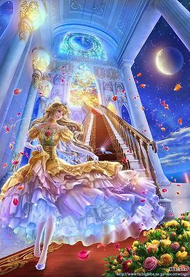 Princess on Stairs Mosaic Diamond Painting Kit 30 x 40 cm like cross stitch