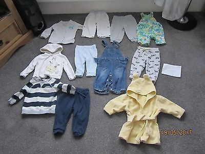Lovely Bundle  Baby Clothes 6-9 Months /.pants/dungarees/tops/ 11 Items
