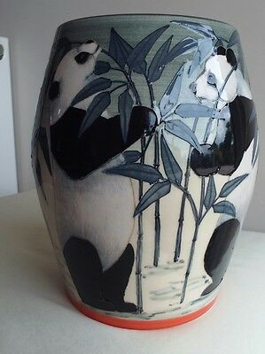 Sally Tuffin Dennis Chinaworks Medium Wide Panda Barrel No1.