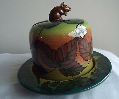 Sally Tuffin Dennis Chinaworks Mouse and Bramble Butter Dish No1.