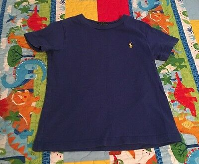 Ralph Lauren Boys Size 4/4T Blue Short Sleeve Shirt