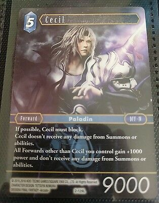 Final Fantasy TCG Cecil Opus2 2-129L Legendary