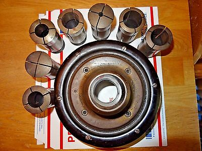 "Used Hardinge Brothers No 2A-D3"" Speed Collet Chuck With (7) 2J Collets"