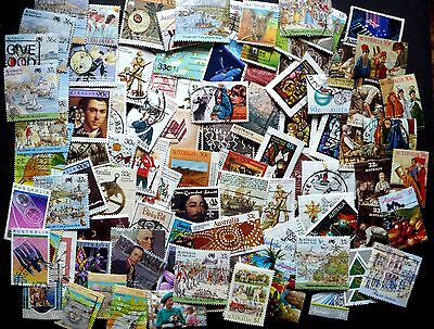Australia Collection/mixture Of 100 Stamps 1983-87  Approx. No Duplicates  Used