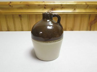 """Nice Brown / Cream McComb Pottery Jug 5 3/8"""" Excellent Condition"""