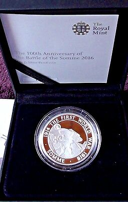 "£5 Silver PROOF Royal Mint ""Battle of the Somme"" coin 2016- LIMITED EDITION"