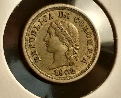 Nice find! 1902 Colombia 5 Centavos - Silver Coin