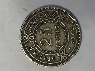 1968 25 Cents British Honduras
