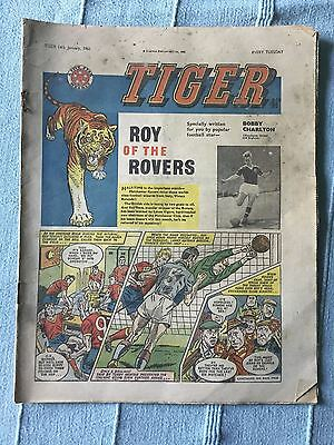 Tiger, featuring Roy of the Rovers. January 14th 1961. Bobby Charlton