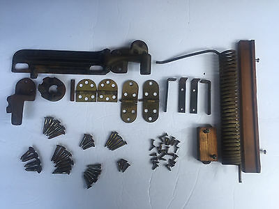 1910 Antique Singer Treadle Sewing Machine Wood Cabinet Hardware / Parts Only