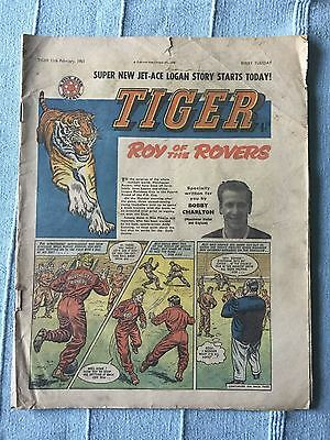 Tiger, featuring Roy of the Rovers. February 11th 1961. Bobby Charlton