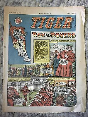 Tiger, featuring Roy of the Rovers. March 10th 1962