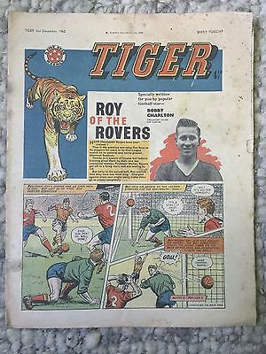 Tiger, featuring Roy of the Rovers. December 3rd 1960