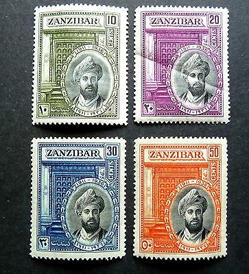 Zanzibar Kgvi 1936  Silver Jubilee Of Sultan Set Of 4 Sg323-6 Cat £37.00 Mm