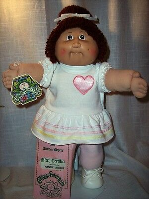 Vintage 1983 Coleco Cabbage Kid Auburn Hair One Pony/Freckles/Birth Certificate