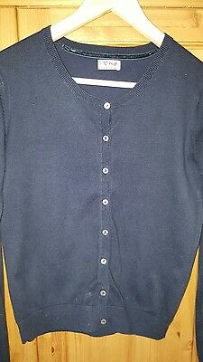 Girls Navy Cotton Summer Cardigan, Next Age 15/16 Years