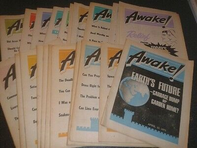 Jehovah's Witness AWAKE! magazine - 24 British Issues 1971