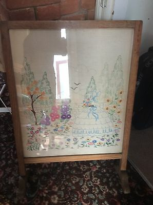 vintage heavy fire Screen / guard with sampler inside