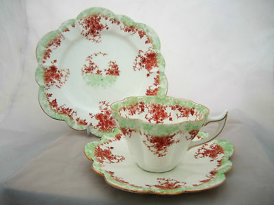 Antique Foley Wileman Pre Shelley China Trio Pattern 272764 Snowdrop Shape C1892