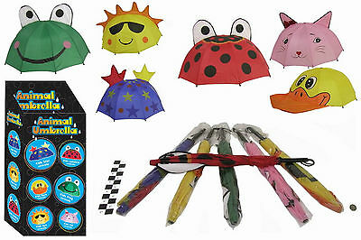 Job Lot of Childrens animal umbrellas, frog, ladybird, stars and sun
