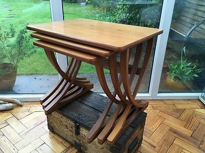 Mid Century Retro Vintage Teak Nest Of Tables By Nathan