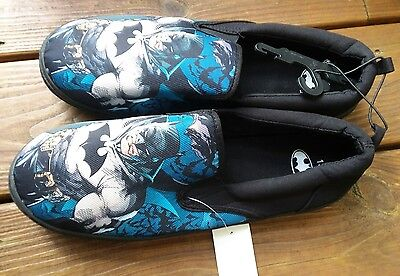 082111b01235 Men s BioWorld DC Comics BATMAN Black Canvas SlipOn Shoes Size 9 New With  Tag s