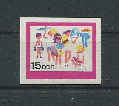 DDR PH 1433 PIONIERE 1968 PHASENDRUCK UNGEZÄHNT SCOUTS PROOF IMPERF RARE! d868