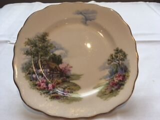 Royal Vale Country Cottage Vintage Bone China Plate