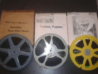 DOCUMENTARY - BLIND AS A BAT - PIGEONS - THRILLMAKERS - 16mm Cine Film Movie
