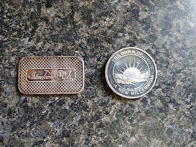 2 (two) troy ounces 100% real .999 silver bullion