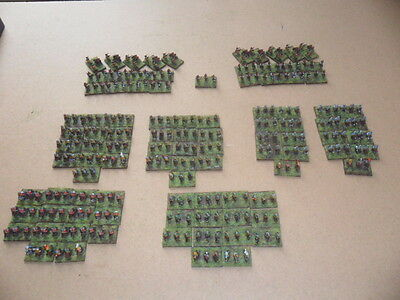 Painted 6mm Baccus English civil war armies.