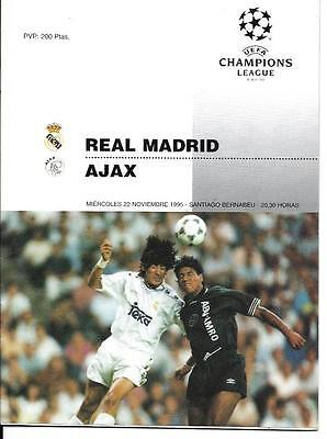 95/6 Champions League - Real Madrid v Ajax Amsterdam