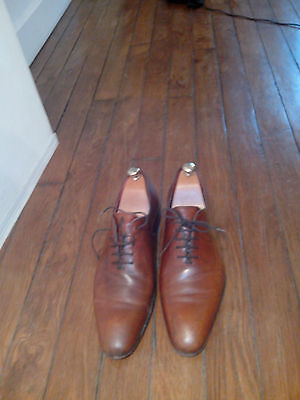 """Chaussures homme """"Exclusif"""" p.42.5, cuir marron, fabrication française"""