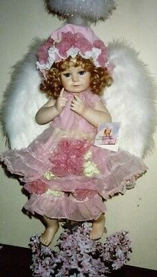 LILAC ANGEL - by Thelma Resch & Valerie Tabor-Smith - Ltd. Ed. porcelain *NIB*