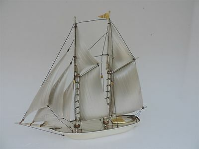 Large 2 Masted Solid Sterling Silver Boat Yacht Ship Not Scrap 245 Grams 8.6 Oz