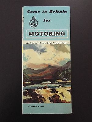 Come to Britain for Motoring Vintage Brochure