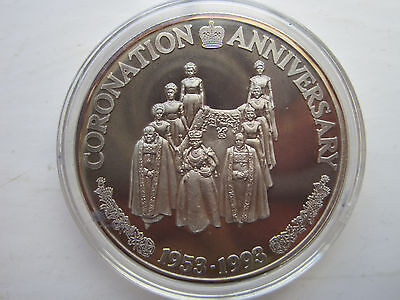 TURKS&CAICOS ISLANDS - 20 Crowns 1993 - coronation anniversary .999 pure SILVER
