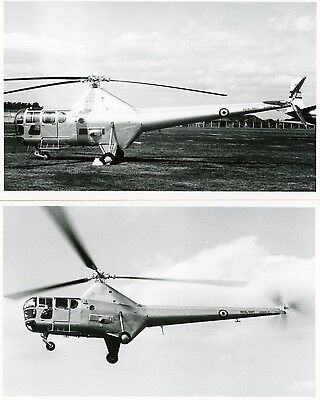 2 RARE, ORIGINAL , Royal Navy, WESTLAND DRAGONFLY HR5 WG707 , HELICOPTER , 1950s
