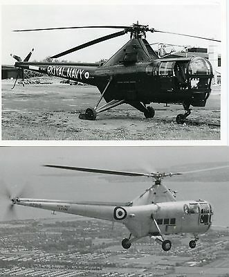 2 RARE, ORIGINAL , Royal Navy, WESTLAND DRAGONFLY HR5 , HELICOPTERS , 1950s