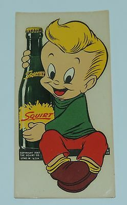 Vintage Advertising Water Decal Sticker Little Squirt Soda 1947 MINT