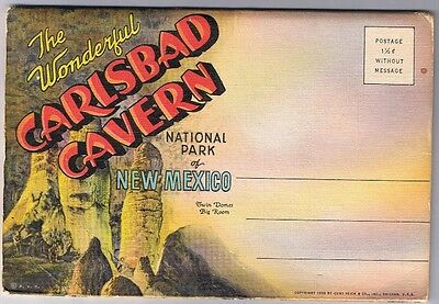 Carlsbad New Mexico - Cavern National Park - Foldout Postcard Folder