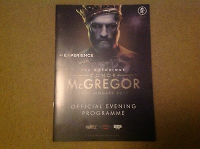 2017 An Experience With Conor McGregor Official Evening Programme Sent FREE POST