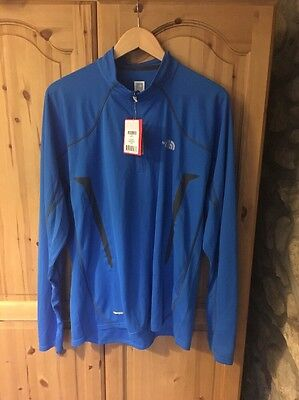 The North Face Men's Half Zip Base Layer Bright Blue Size XL
