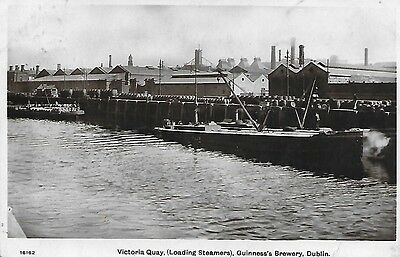 Dublin Guinness's Brewery Victoria Quay Loading Steamers 1915