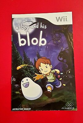 A Boy and His Blob Instruction Manual GC Fast Free P&P!!